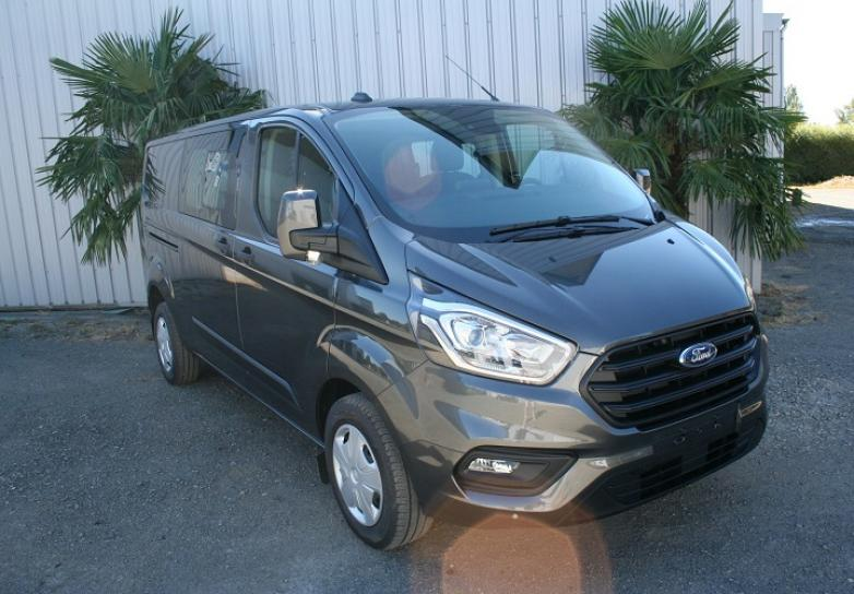 FORD TRANSIT CUSTOM FOURGON D.C L2H1 2.0 ECOBLUE 130 CV 320 BVA TREND BUSINESS 5 PL Neuf stock et arrivages