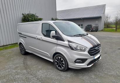 photo FORD TRANSIT CUSTOM FOURGON L2H1 2.0 ECOBLUE 185 CV 320 SPORT 3 PL Neuf stock et arrivages